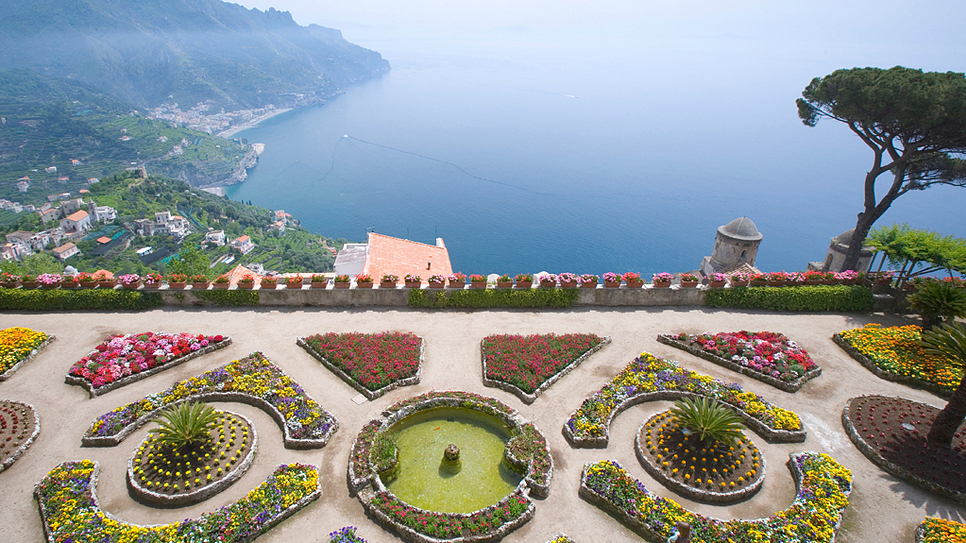 Italy share shore excursions amalfi ravello and pompeii for Jardin villa rufolo